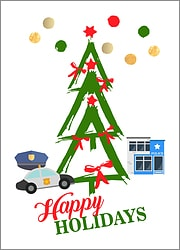 Police Tree Holiday Card