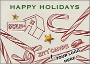 Real Estate Logo Candy Canes