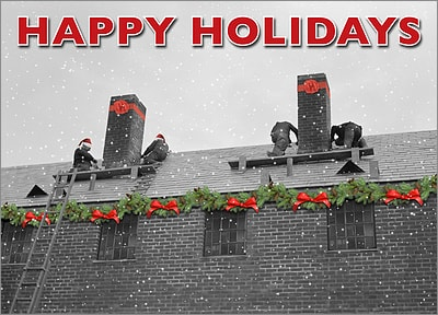 Roofing Holiday Card (Glossy White)