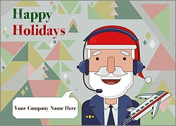 Santa Aviation Christmas Card