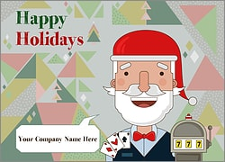 Santa Casino Christmas Card