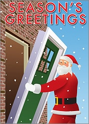 Santa Door Installation Card