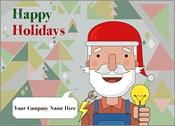Santa Electricians Christmas Card