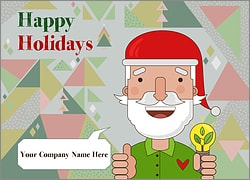 Santa Energy Christmas Card