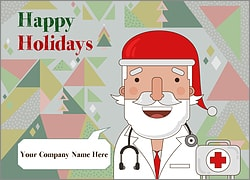 Santa Medical Christmas Card