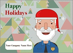 Santa Police Holiday Card