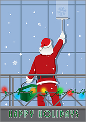 Santa Window Cleaning Card