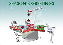 Season's Greetings Dental Chair