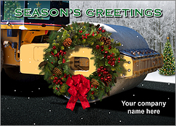 Steamroller Holiday Card
