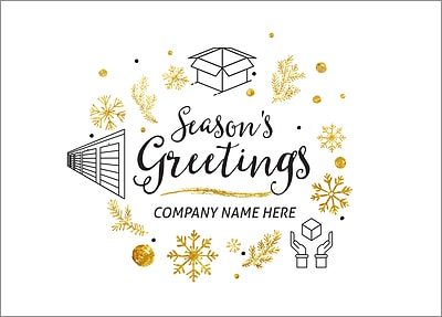 Storage Icons Christmas Card (Glossy White)