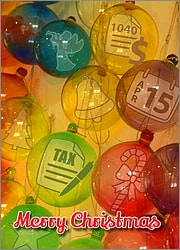Tax Glass Ornaments