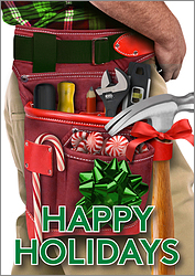 Tool Belt Christmas Card