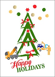 Towing Tree Holiday Card