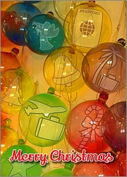 Travel Glass Ornaments