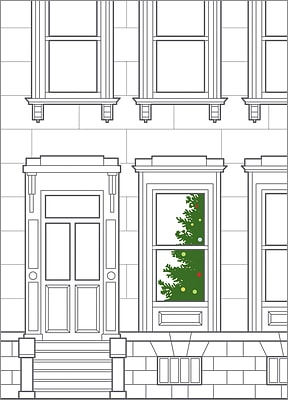 Tree in Window (Glossy White)