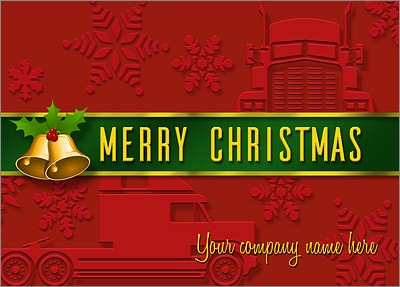 Trucking Card Red (Glossy White)