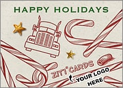 Trucking Logo Candy Canes