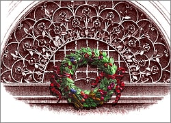 Wreath on Grillwork