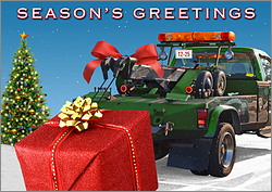 Wrecker Holiday Card