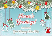Accounting Ornaments Christmas Card