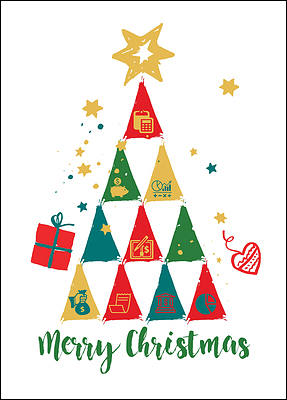 Accounting Tree Christmas Cards Personalized For Your Business