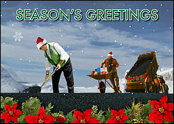 Asphalt Holiday Christmas Card