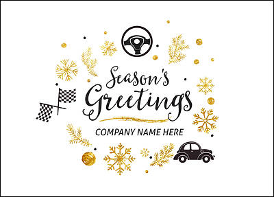 Auto Icons Christmas Card (Glossy White)