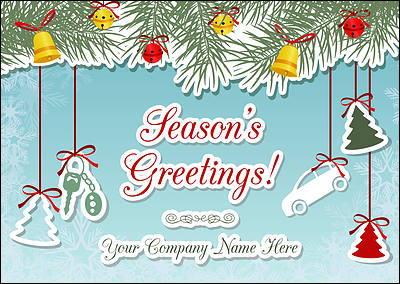 Auto Ornaments Christmas Card (Glossy White)