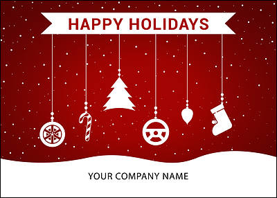 Auto Ornaments Holiday Card (Glossy White)