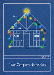 Blueprint Christmas Card