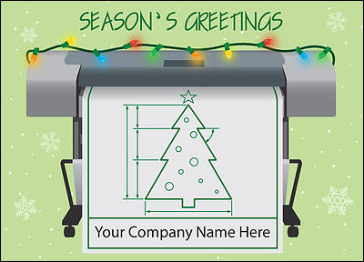 Blueprint Holiday Card (Glossy White)