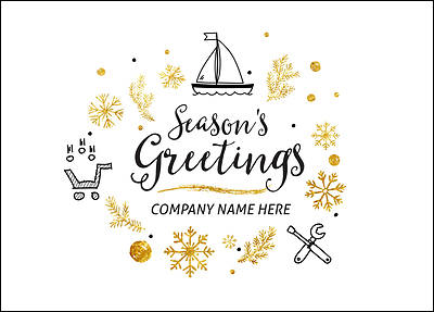 Boat Sales Christmas Card (Glossy White)