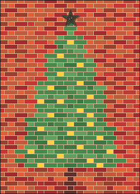 Brick Christmas Tree (Glossy White)
