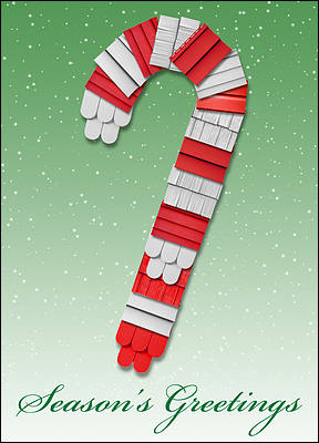 Candycane Siding Holiday Card (Glossy White)