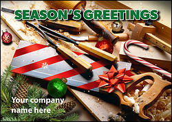 Carpenters Tools Christmas Card