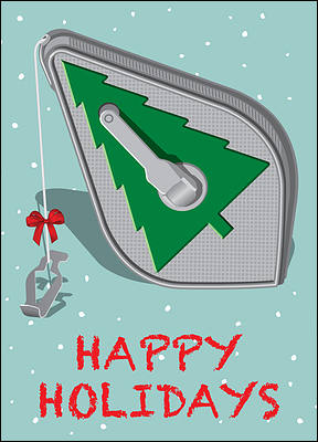 Carpentry Holiday Card (Glossy White)
