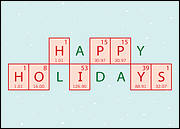 Chemical Engineer Holiday Card