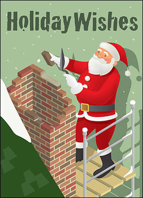 Christmas Bricklayer (Glossy White)