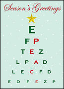 Christmas Eye Chart Card