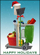 Cleaning Service Christmas Card