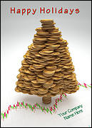 Coin Tree Christmas Card