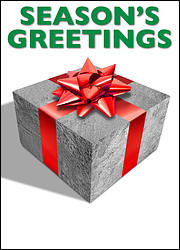 Concrete Block Christmas Card