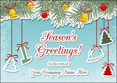 Construction Ornaments Christmas Card (Glossy White)