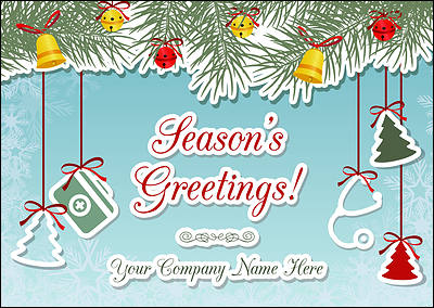 Doctors Ornaments Christmas Card (Glossy White)