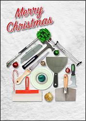 Drywall Tools Christmas Card