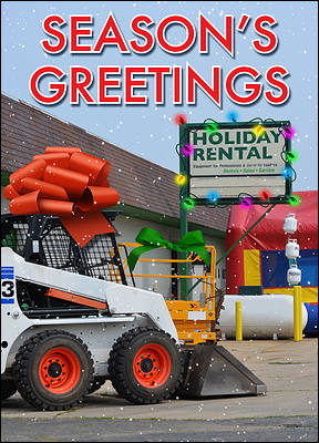 Equipment Rental Christmas Card (Glossy White)