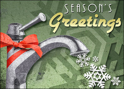 Faucet Holiday Card (Glossy White)