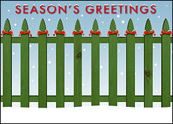 Fencing Christmas Card