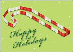Fencing Holiday Card