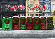 Festive Potties Christmas Card